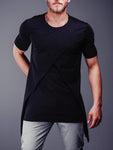 Raw Cut T-Shirt Patched Blocks 4308