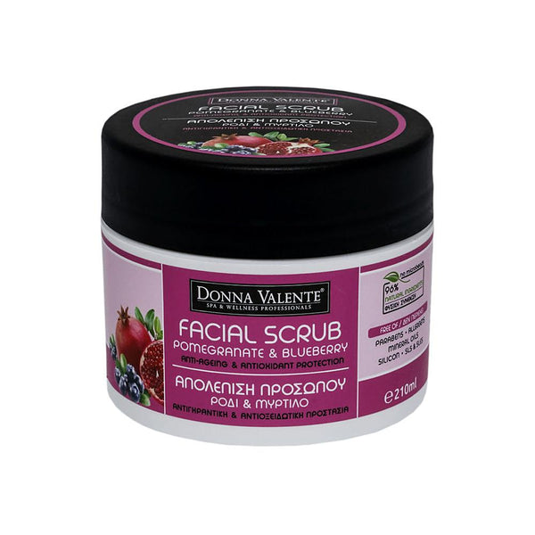 Donna Valente Facial Scrub Pomegranate & Blueberry - 210ml