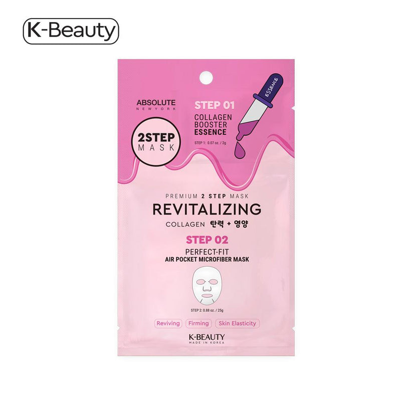 Absolute New York Revitalizing 2 Step Face Mask - 1 Pair, 1.6 oz / 45.36g