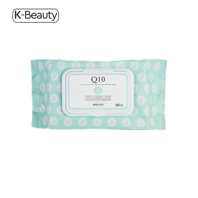 Absolute New York Q10 Premium Makeup Cleansing Tissues (50 ct.) 14.4 oz / 408.23 g