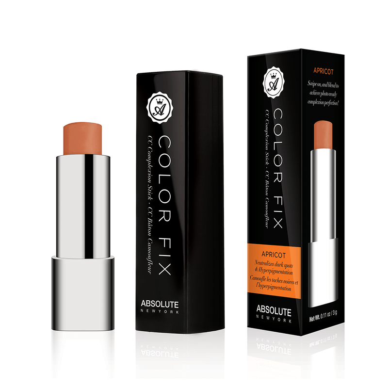 Apricot, cream color-correcting concealer in retractable click pen packaging, from Absolute New York.