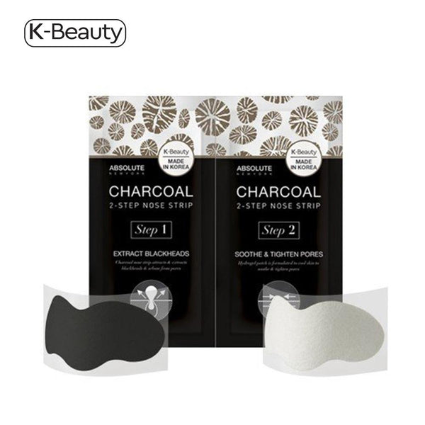 Absolute New York Charcoal 2-Step Pore Strips - 1 Pair, 0.8 oz / 22.68 g