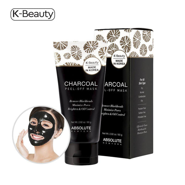 Absolute New York Charcoal Peel-Off Mask - 1 Tube, 2.82 oz / 80g