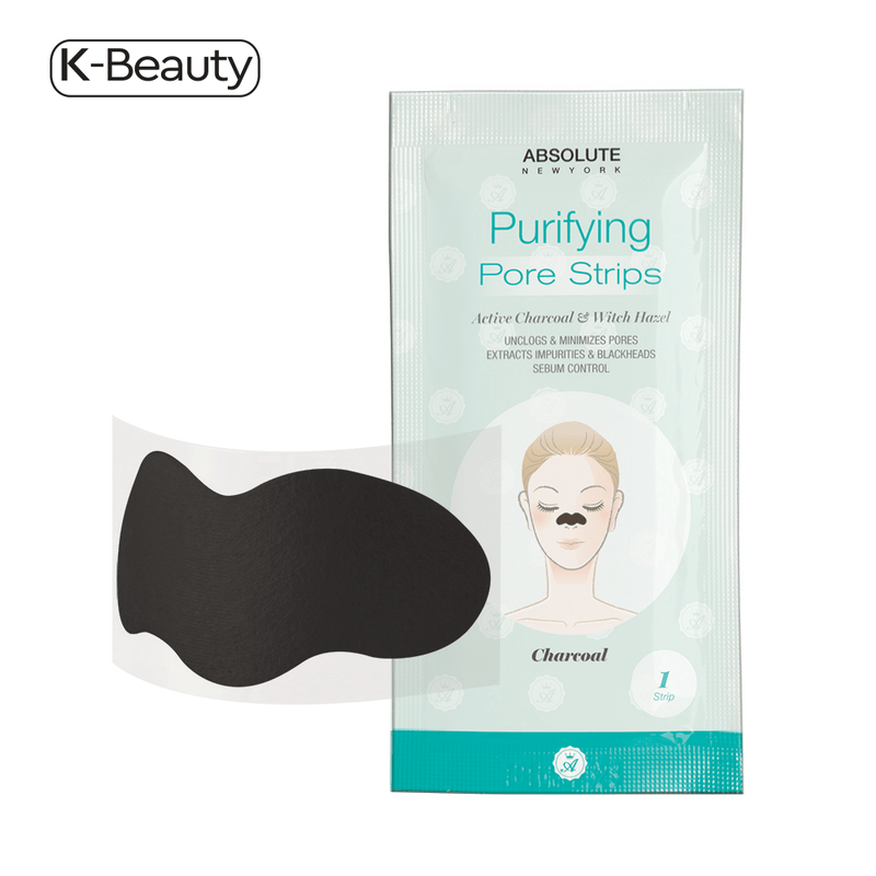 Absolute New York Charcoal Purifying Pore Strips - 1 Pair, 0.8 oz / 22.68 g