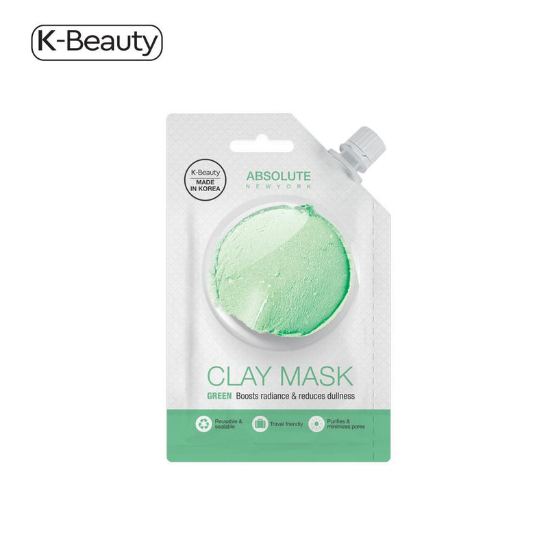 Absolute New York Green Clay Spout Mask - 1 Pair, 0.882 fl. oz / 26.08 mL