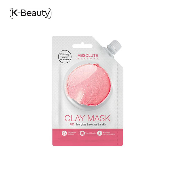 Absolute New York Red Clay Spout Mask - 1 Pair, 0.882 fl. oz / 26.08 mL