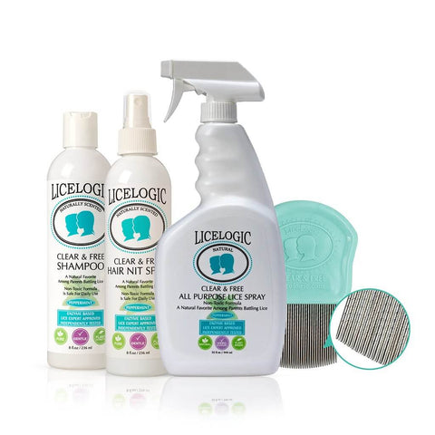 LiceLogic Clear & Free Lice Eliminator Kit - Get The Full Treatment!