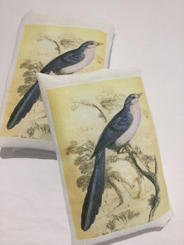 Flour Sack Tea Towel - Set of 2 -  Blue Bird