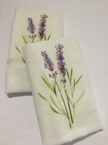 Flour Sack Tea Towel - Set of 2 - Lavender