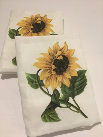 Flour Sack Tea Towel - Set of 2 - Sunflower