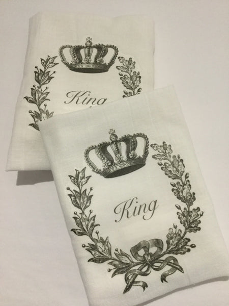 Flour Sack Tea Towel - Set of 2 - King and King