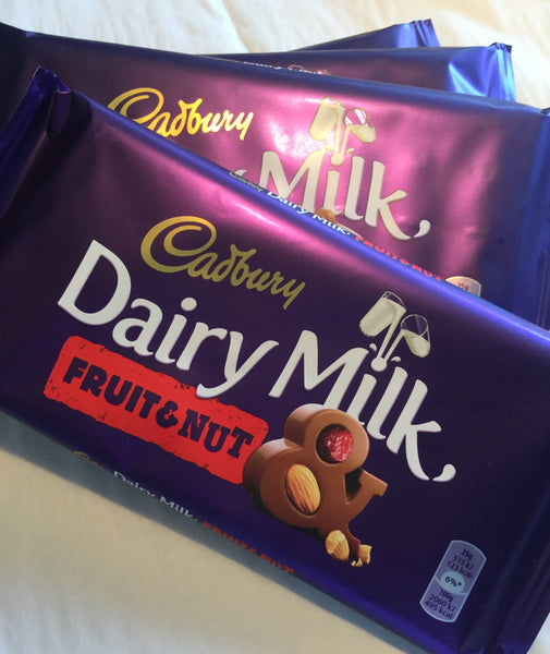 Cadbury Dairy Milk - Fruit & Nut 200g Bar - British Import