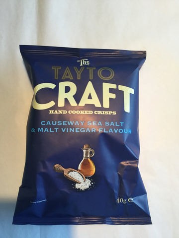 The Tayto Craft Crisps -Causeway Sea Salt & Malt Vinegar