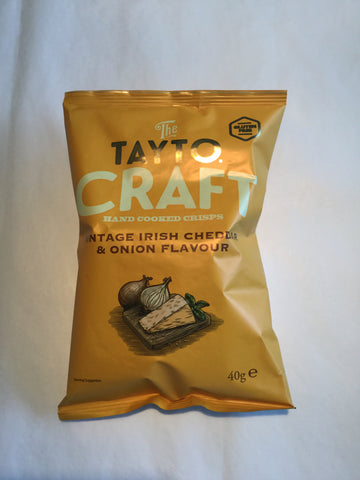 The Tayto Craft Crisps - Vintage Irish Cheddar & Onion