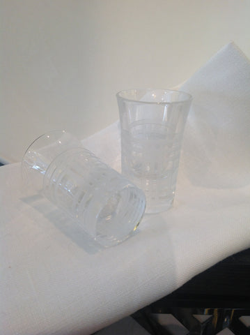 Burberry Crystal Shot Glass  1pr