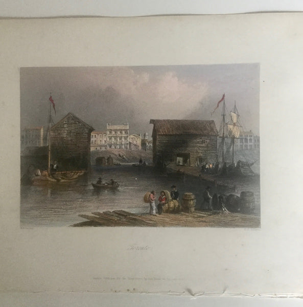 William Bartlette 1800s Engraving Toronto