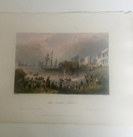 William Bartlette 1800s Engraving   St. Lawerance Market
