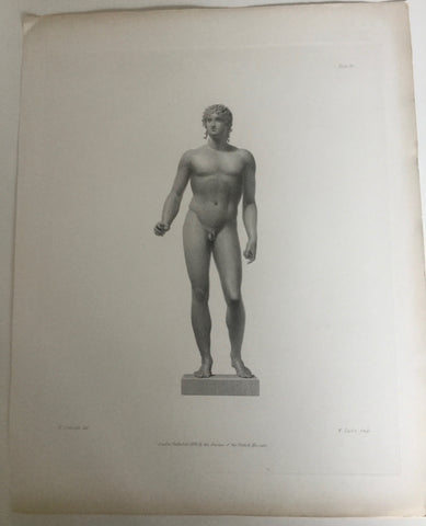 Male Statue 1800s Engraving   St.