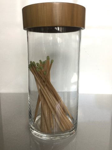 Clear Glass Containers - Bamboo Top