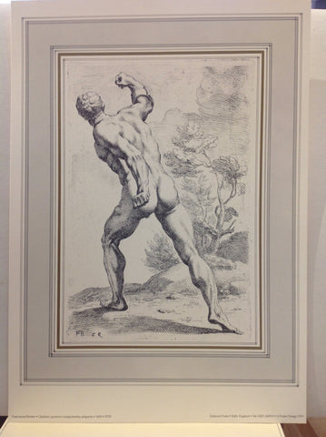 Print of Male Statue Backside