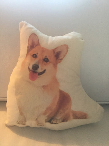 Corgi Dog Stuffy Canvas Pillow