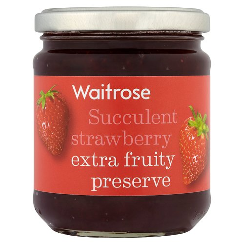 Waitrose Succulent strawberry extra fruity preserve 340 g
