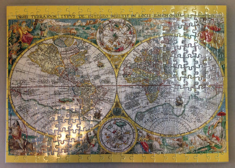 Vintage Earth Map Puzzle