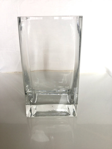 Clear Glass Rectangle Vase