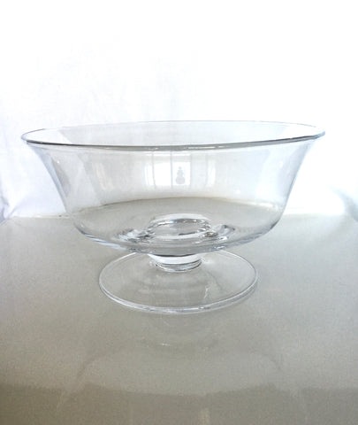 Clear Glass Trifle Bowl