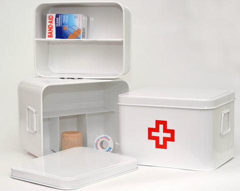 Retro Medicine Box with Red Cross