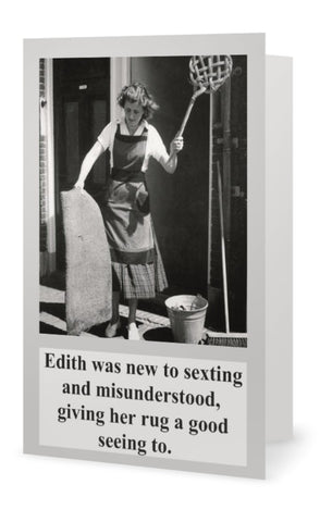 Edith was new to sexting and - Blank -multi purpose