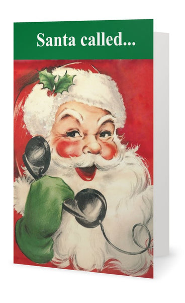 Santa called.  Don't bother waiting up.  Naughty, naughty. -- Christmas