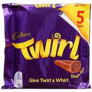 Cadbury Twirl Bars - Multi pac of 5 bars - British Import