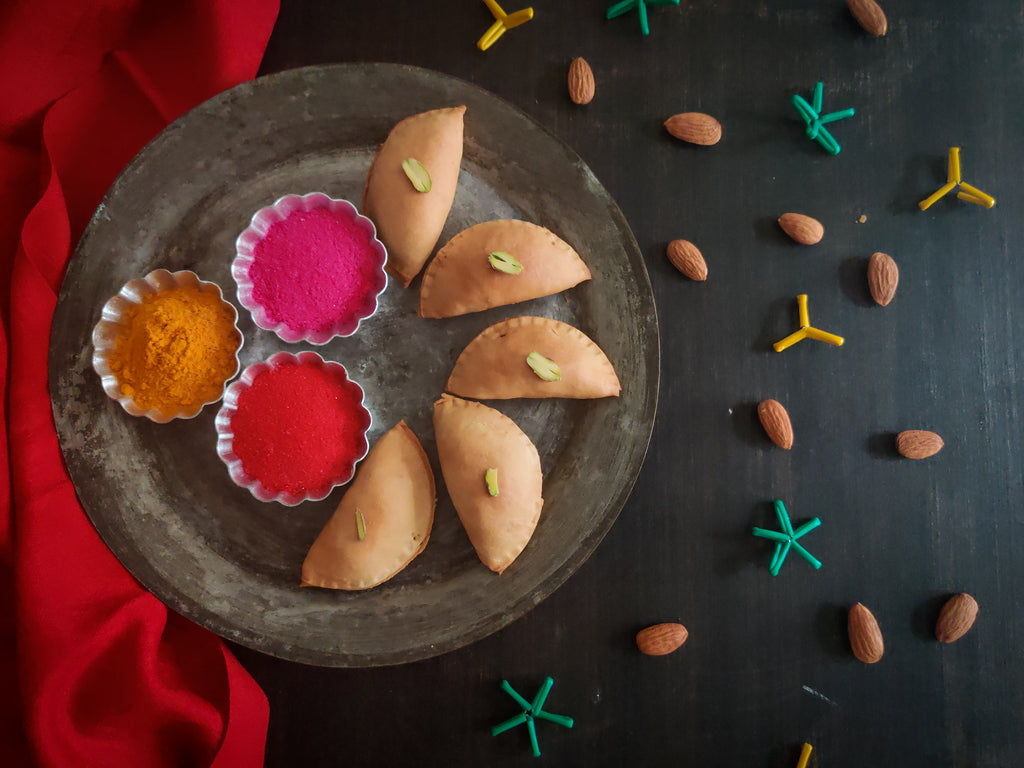 Holi Recipe Using Nut Powder And Jaggery - Gujiya For Kids And Adults