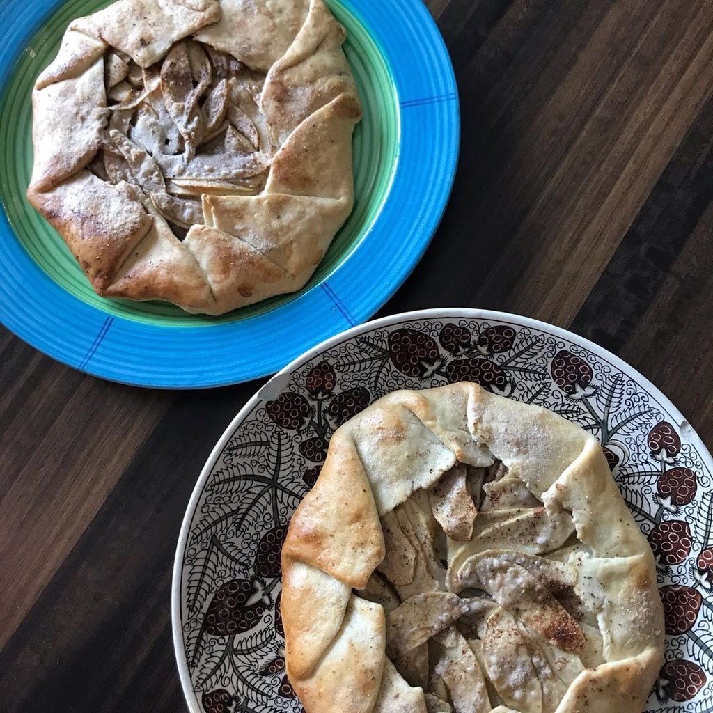 Apple Galette Made From Natural Banana Powder.