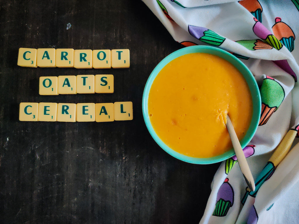 Healthy Oats Recipe For Babies - Carrot Oats Cereal
