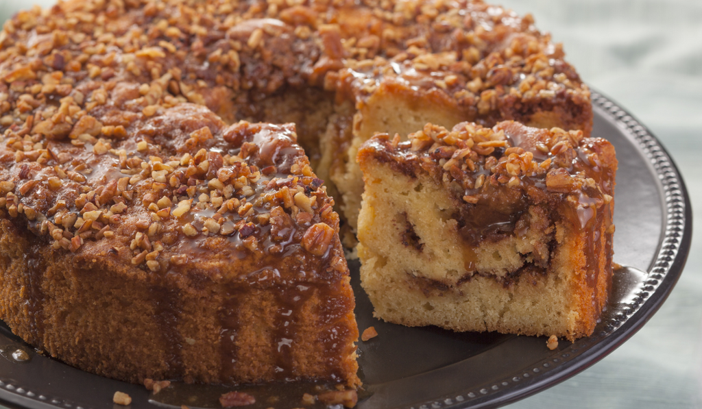 Yummy Coffee Cake Kept In A Tray