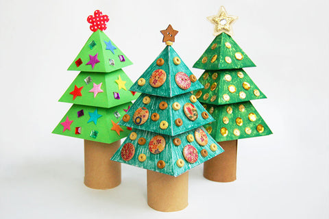 Christmas Craft For Kids : 3D Paper Christmas tree