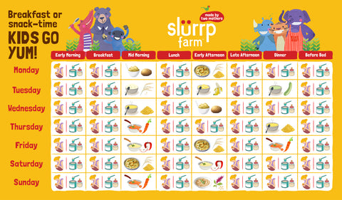 Nutritionist Approved 6 Months Baby Food Chart For Indian Infant Slurrp Farm