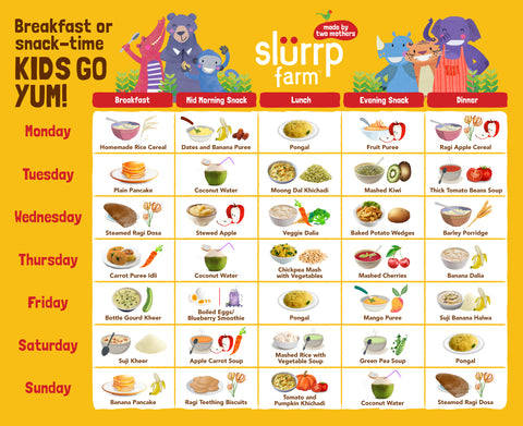 8 Months Baby Food Chart for Indian 02