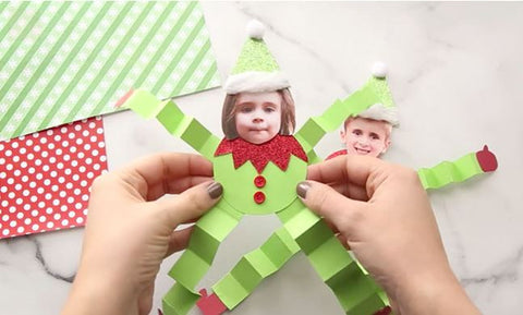 Christmas Craft For Kids : Elf photo doll