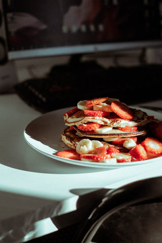Pancake Topping Ideas - Strawberry and cream