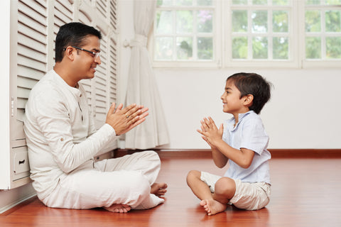 Positive Parenting Tips - A father teaching patience to his son
