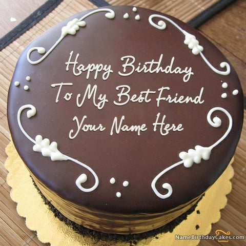 Chocolate cake with name on it