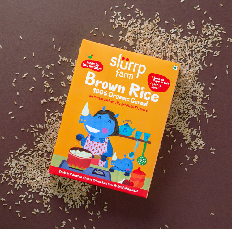 TRIAL PACK - 100% Organic Brown Rice Powder (First food), 50g