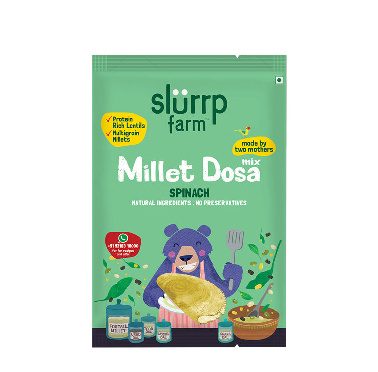 TRIAL PACK - Protein Rich Millet Dosa Mix Spinach (Gluten Free Ingredients), 50g