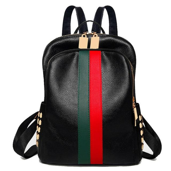 Luxury Famous Women PU Leather Backpack Female Casual Shoulders Bag Teenager School Bag Fashion Women's Bags