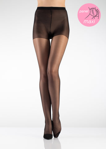 15 Den Maxi Reinforced Toe Tights