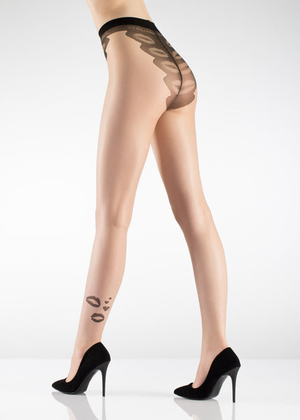 Kiss Pattern Tights