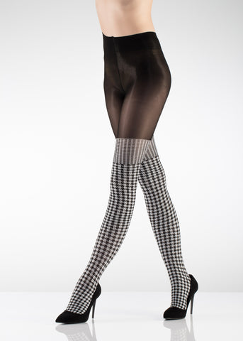 Checkered Woolen Pattern Tights